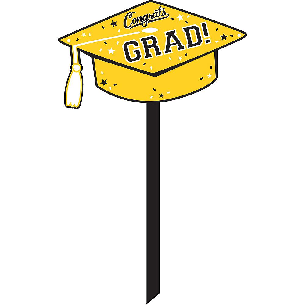 Yellow Congrats Grad Yard Sign Image #1