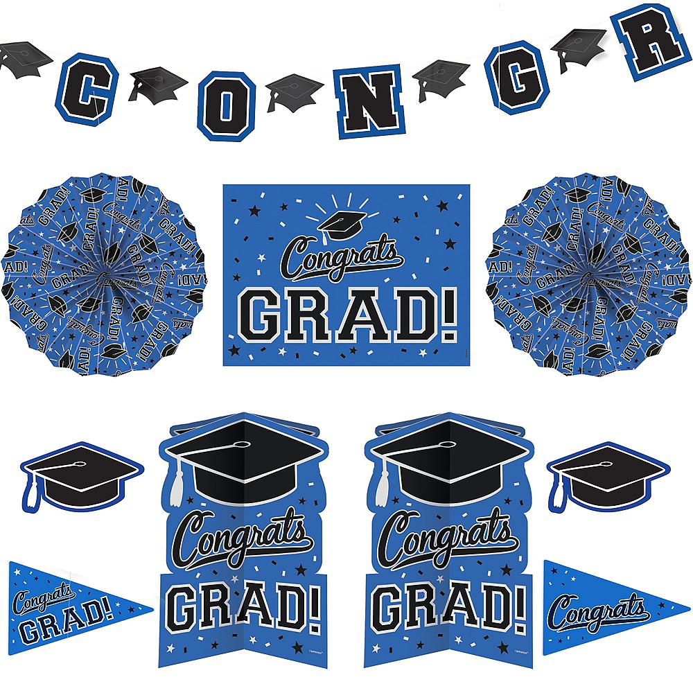 Blue Graduation Room Decorating Kit 10pc Image #1