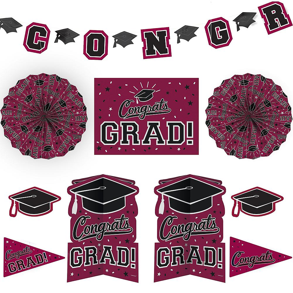 Berry Graduation Room Decorating Kit 10pc Image #1