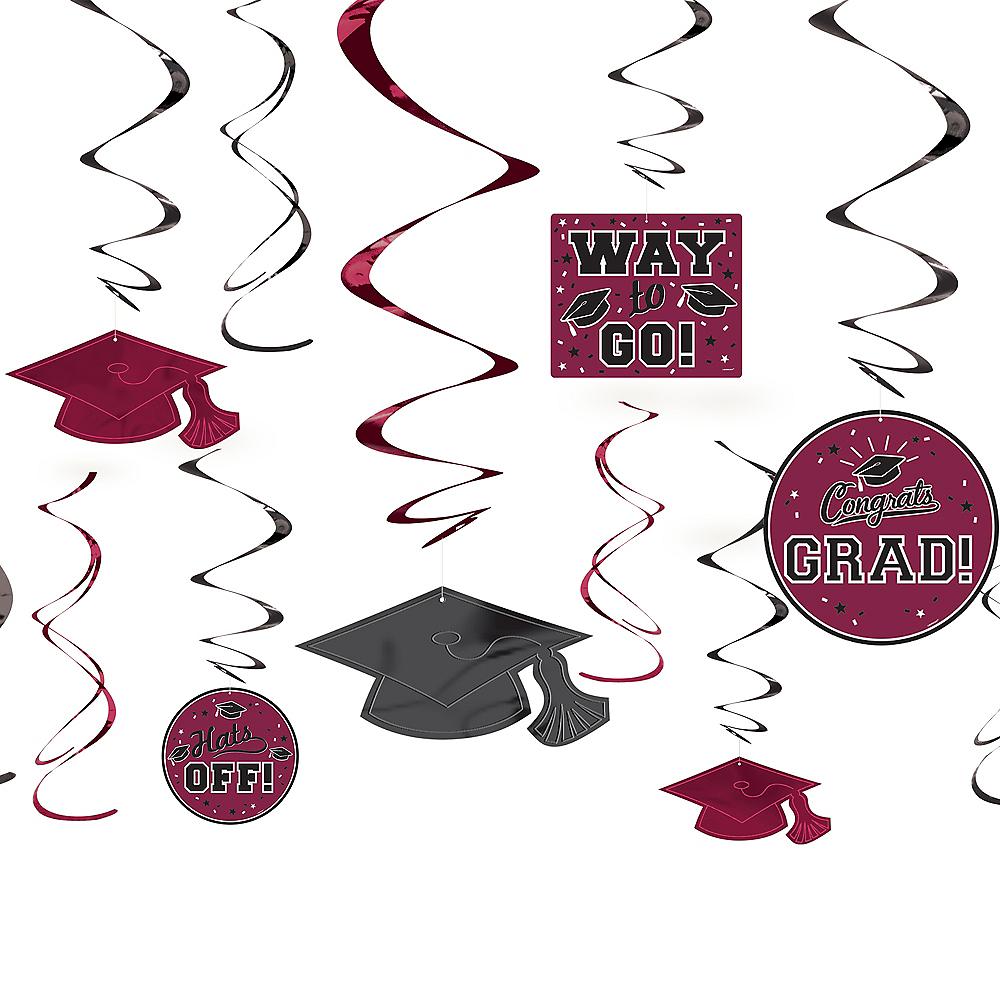 Berry Graduation Swirl Decorations 12ct Image #1