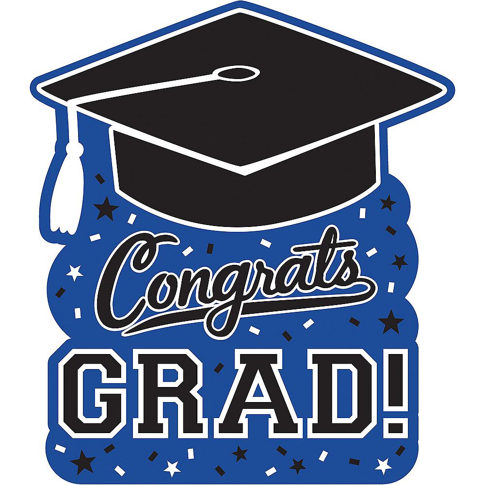 Blue Graduation Cutout Image #1