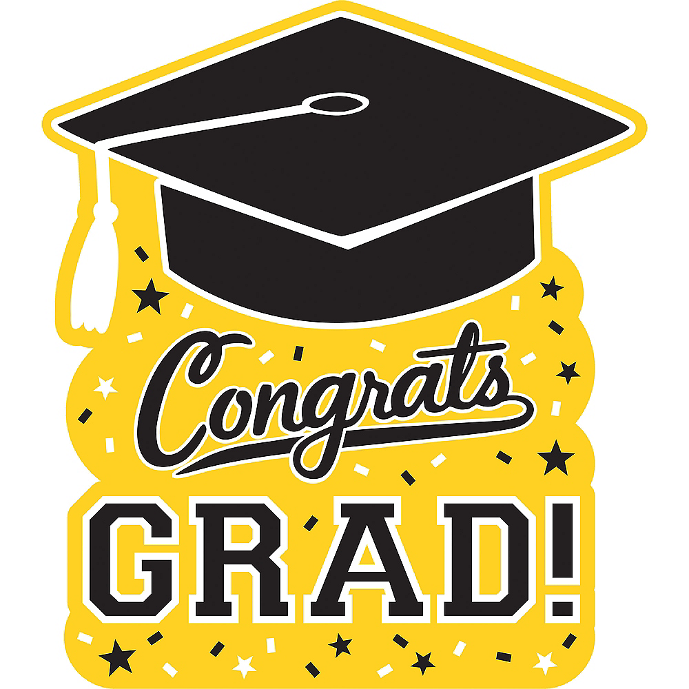 Yellow Graduation Cutout Image #1