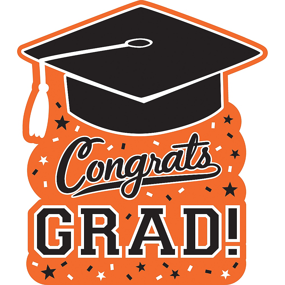 Orange Graduation Cutout Image #1