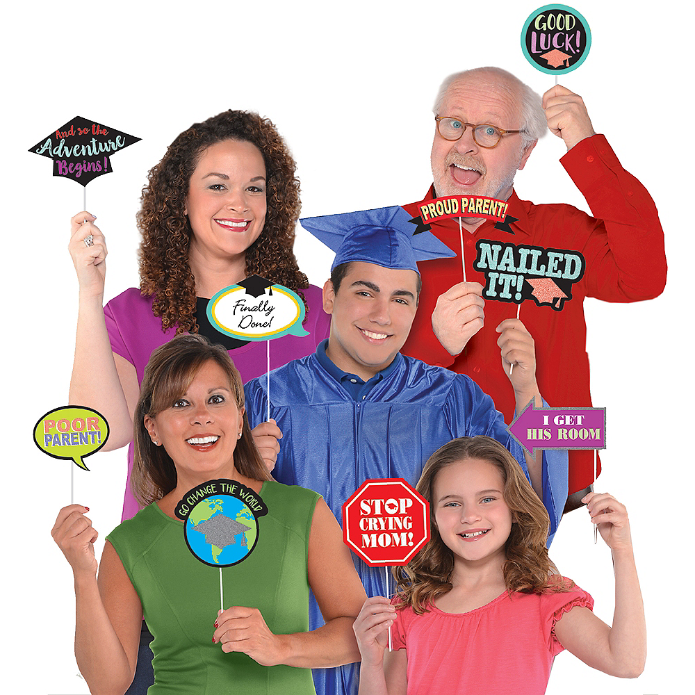 Family Graduation Photo Booth Props 13ct Image #1