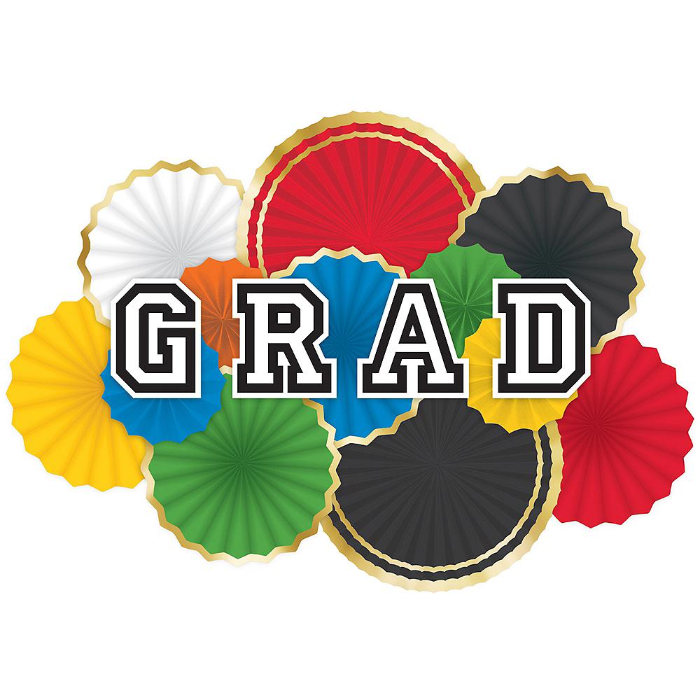 Graduation Paper Fan Decorating Kit 16pc Image #1