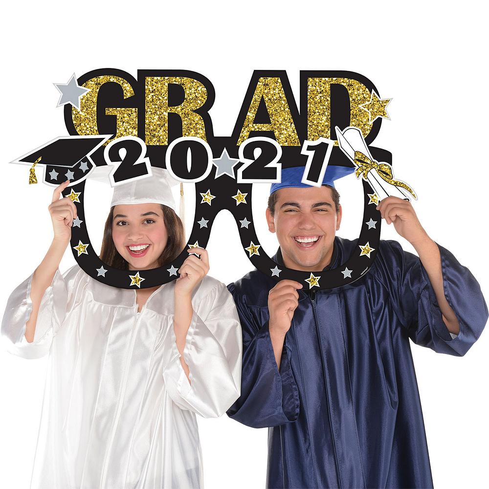 Glasses Graduation Photo Booth Frame 39in X 21in Party City
