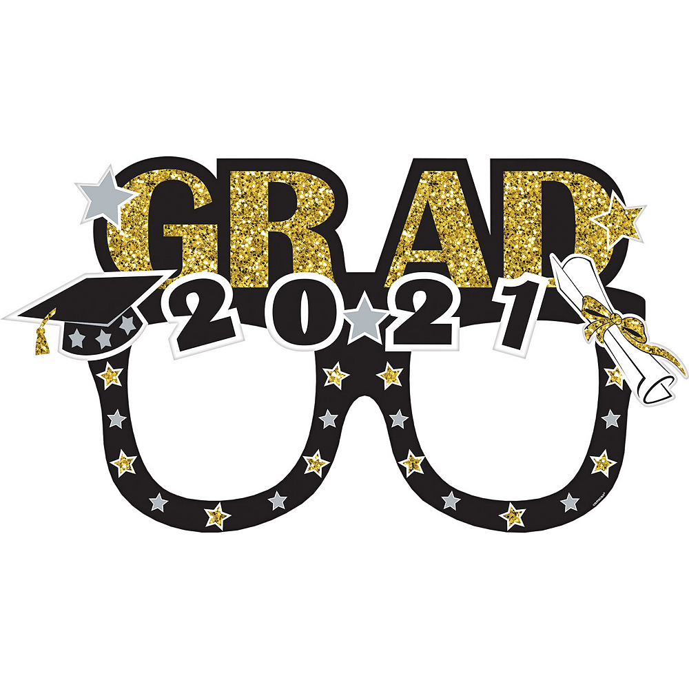 Glasses Graduation Photo Booth Frame 39in X 21in Party