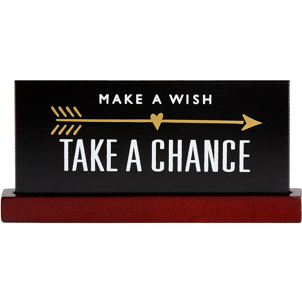Take A Chance Desk Plaque Image #1