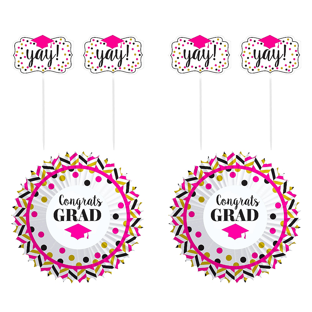 Confetti Graduation Cupcake Decorating Kit for 24 Image #1