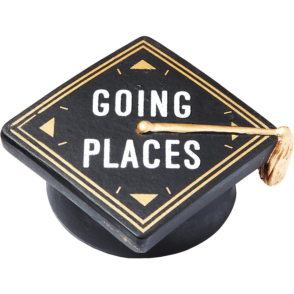 Going Places Graduation Cap Paperweight Image #1
