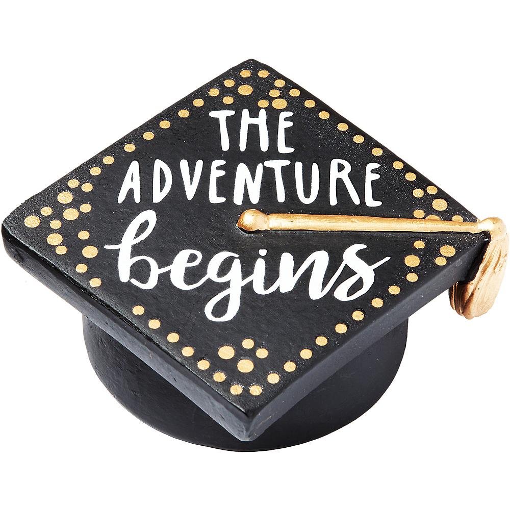 The Adventure Begins Graduation Cap Paperweight Image #1