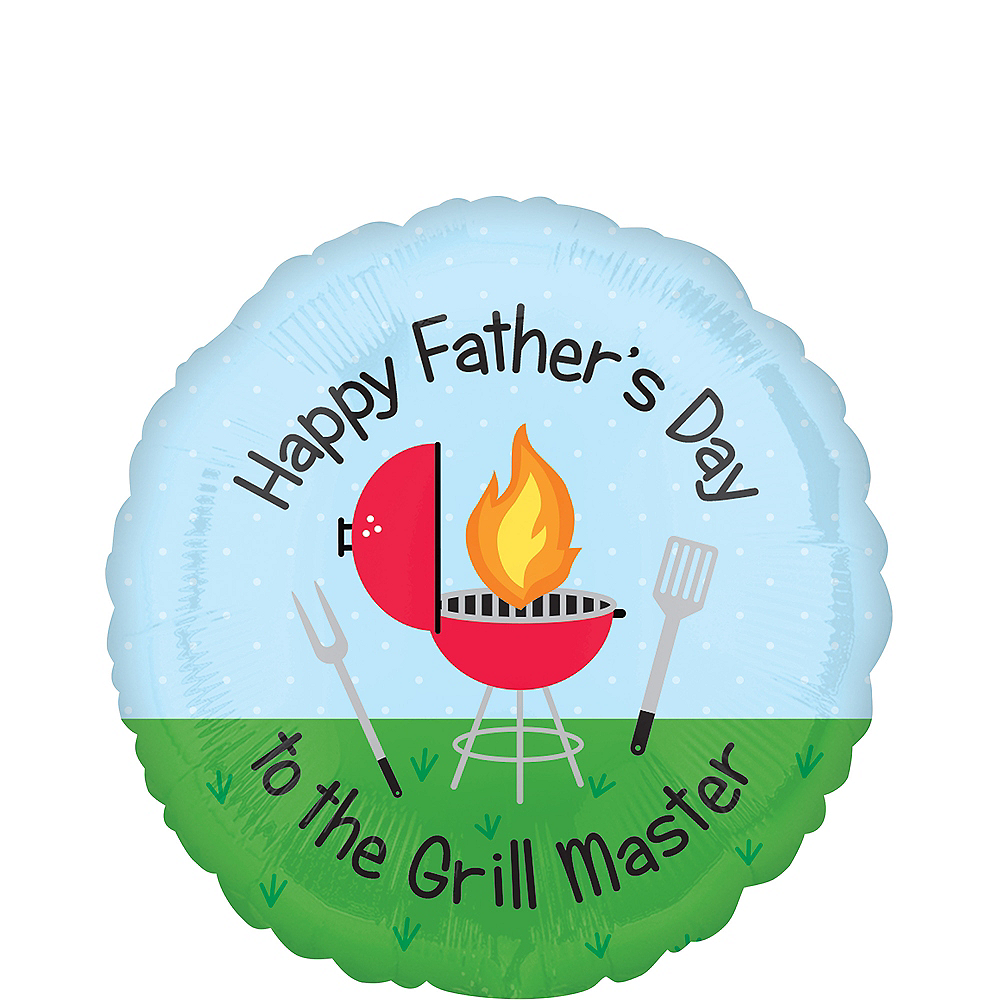 Grill Master Happy Father's Day Balloon Image #1