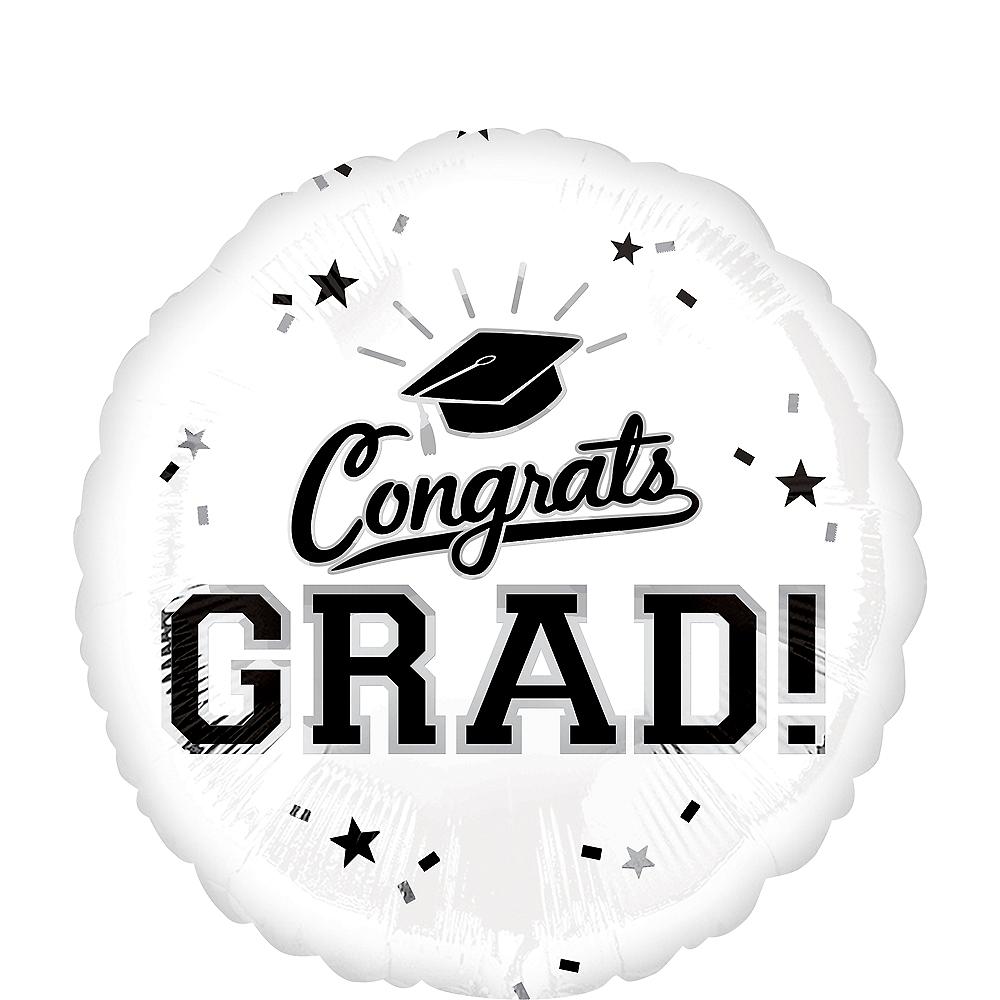 White Congrats Grad Balloon Image #1