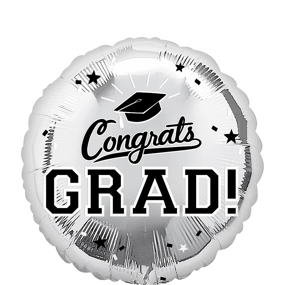 Silver Congrats Grad Balloon Image #1