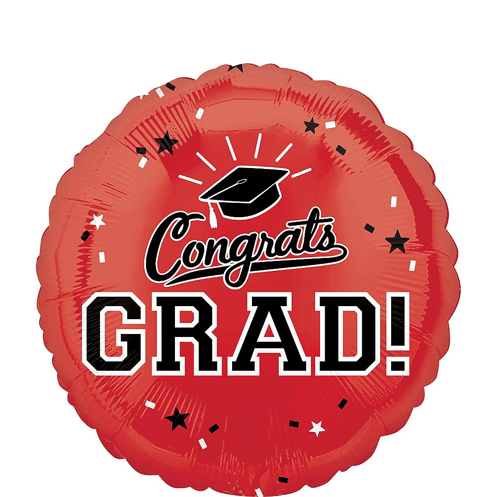 Red Congrats Grad Balloon Image #1