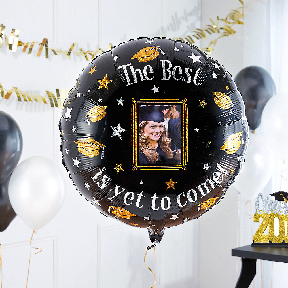 The Best Is Yet To Come Graduation Photo Balloon, 32in Image #2