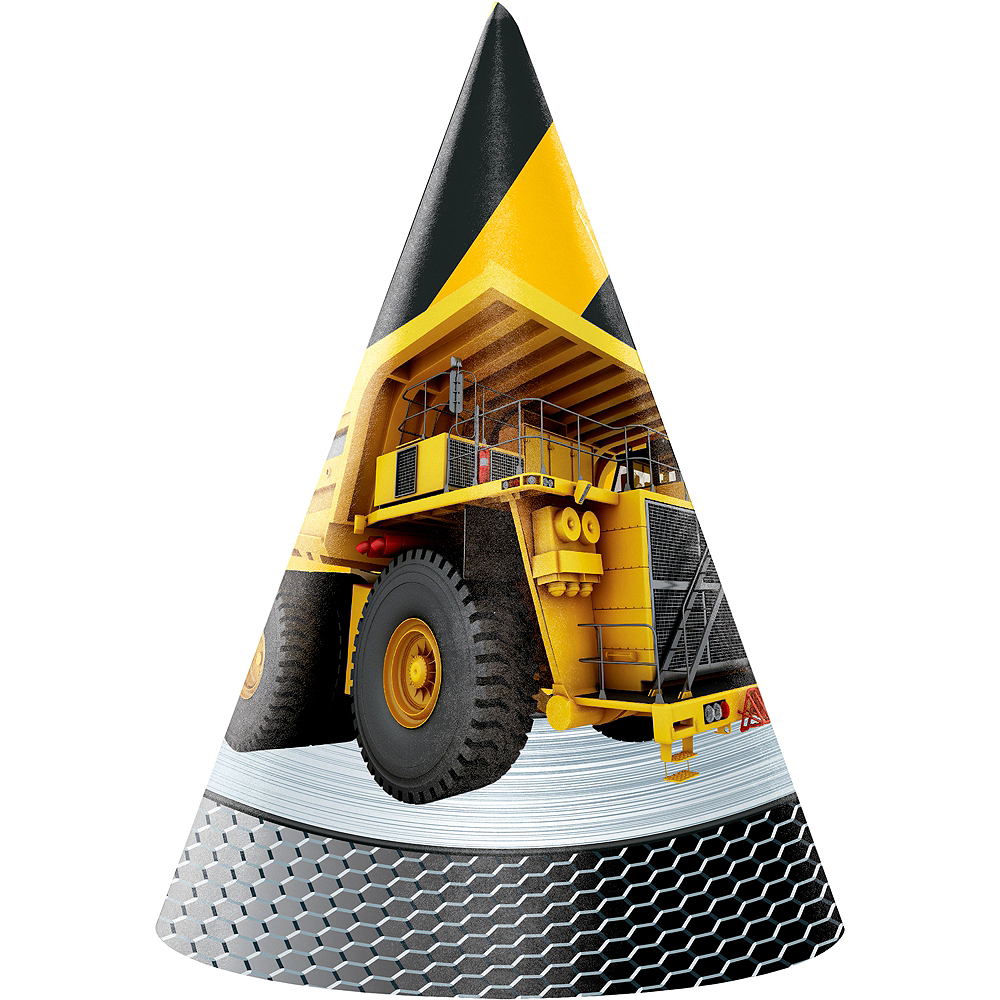 Construction Zone Party Hats 8ct Image #1