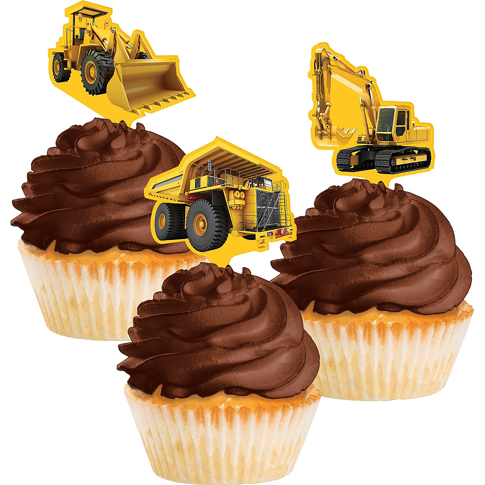 Construction Zone Cupcake Toppers 12ct Image #1
