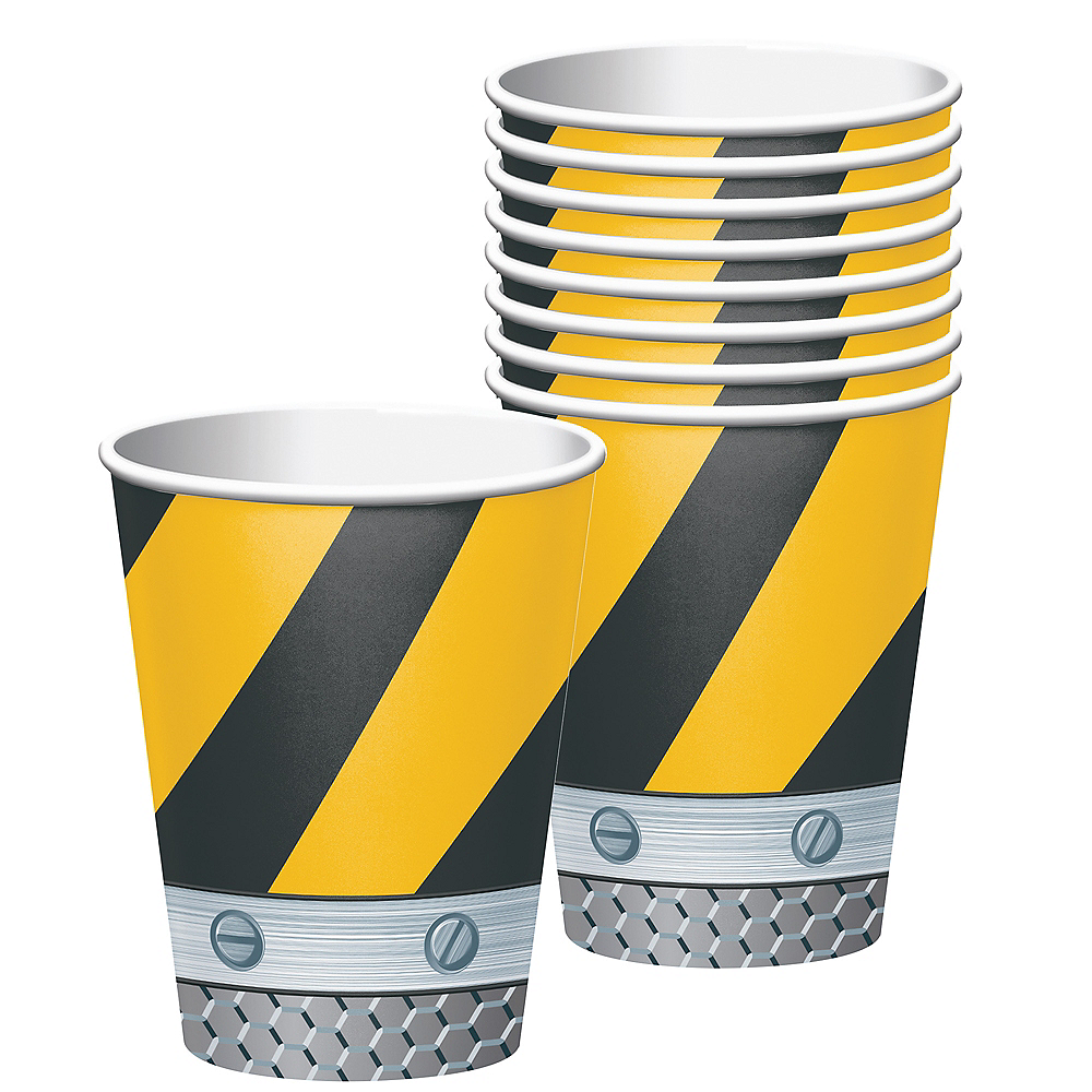 Construction Zone Cups 8ct Image #1