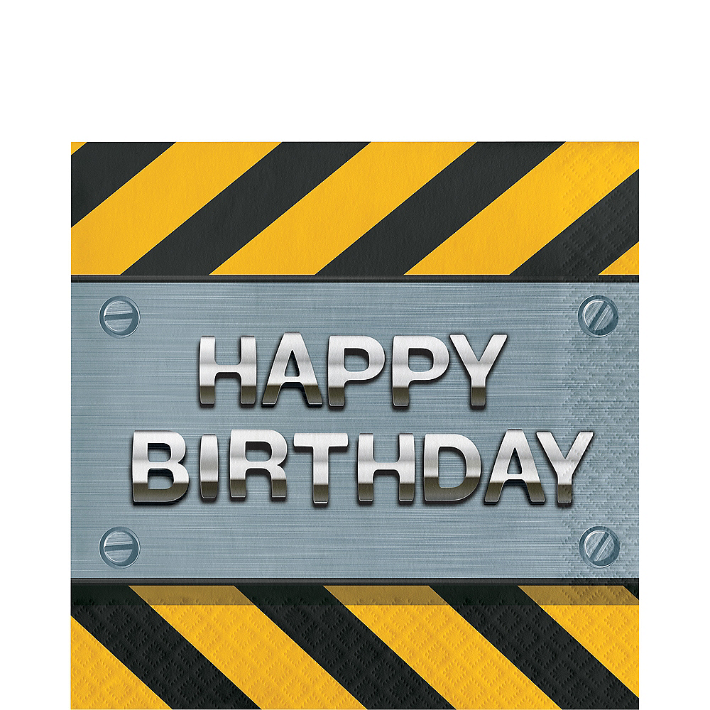 Construction Zone Happy Birthday Lunch Napkins 16ct Image #1