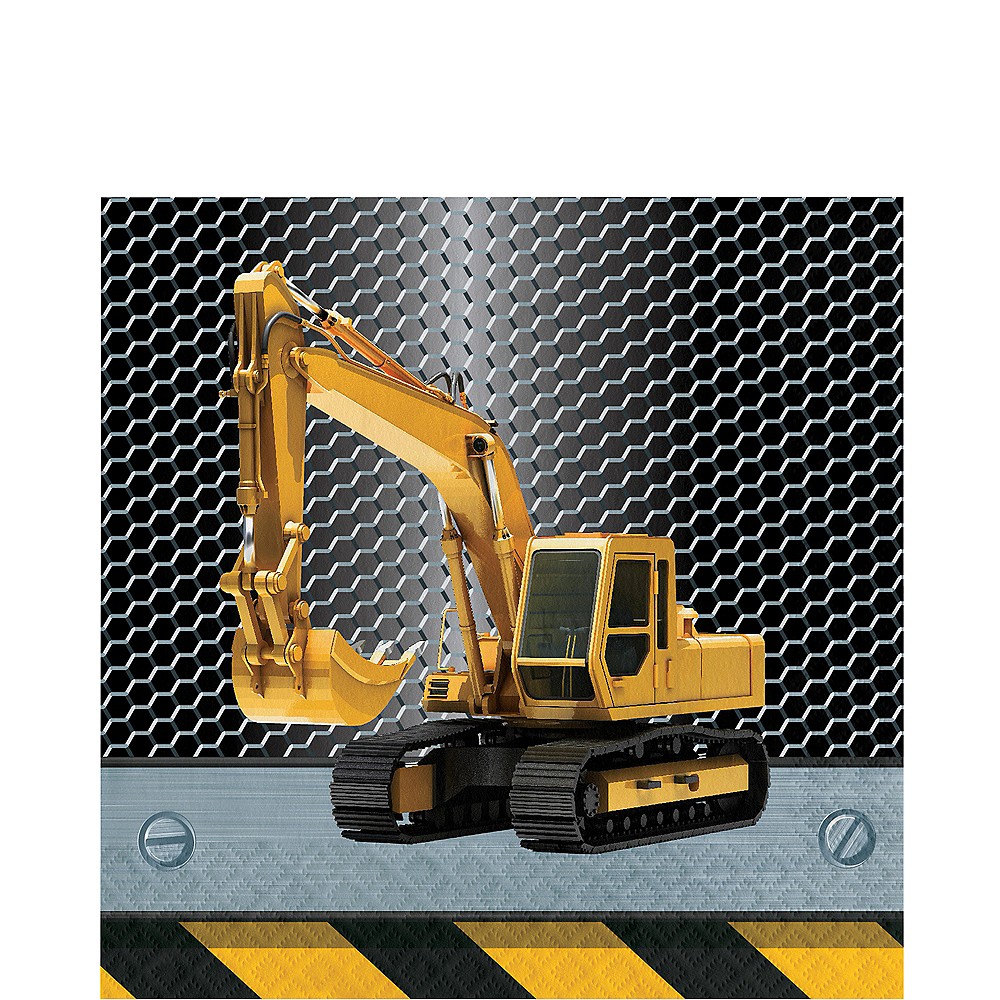 Construction Zone Lunch Napkins 16ct Image #1
