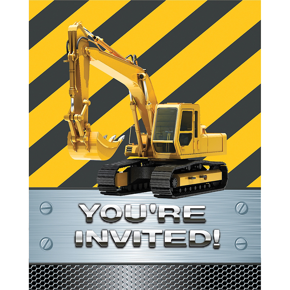 Construction Zone Invitations 8ct Image #1