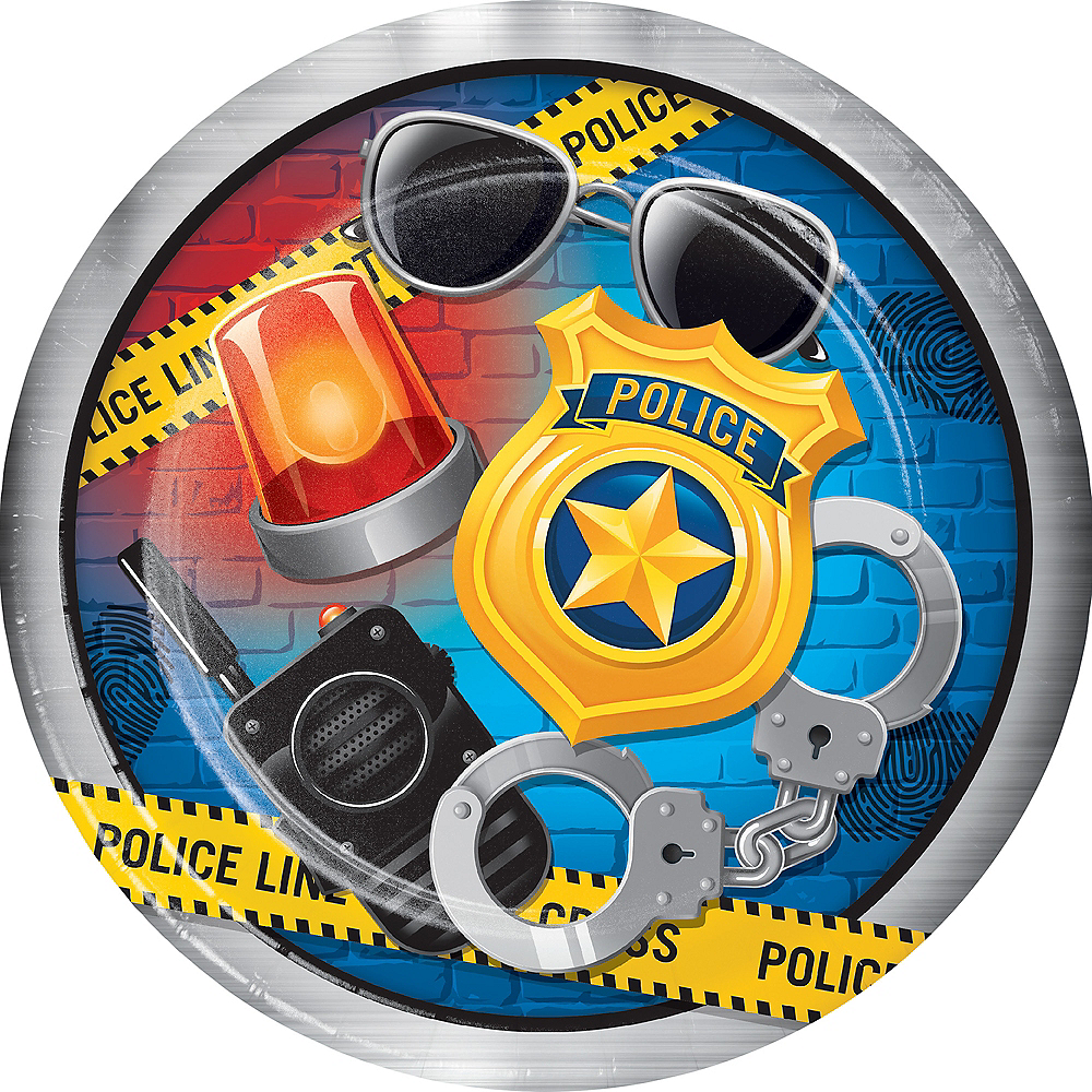 Police Lunch Plates 8ct Image #1