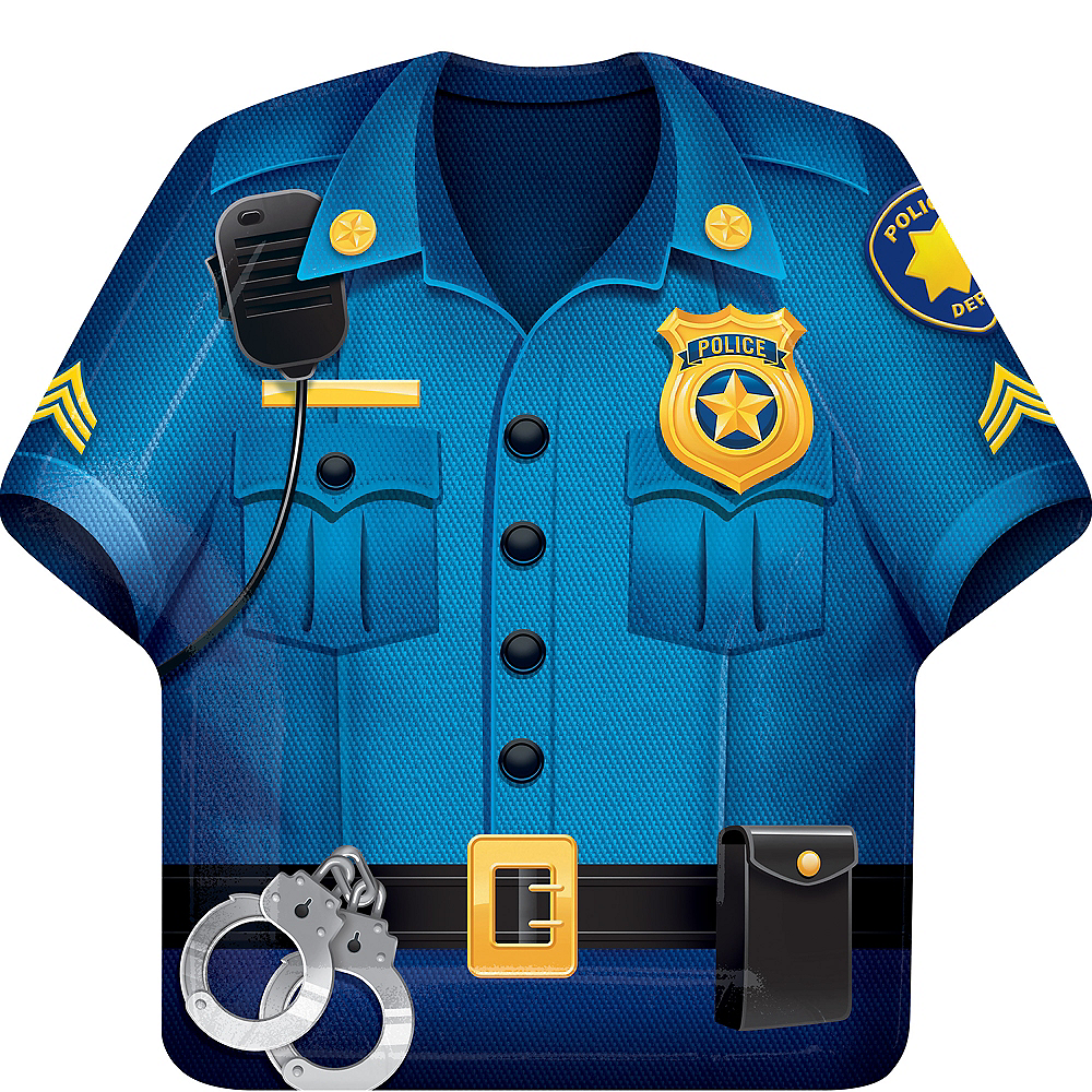 Police Shirt Lunch Plates 8ct Image #1