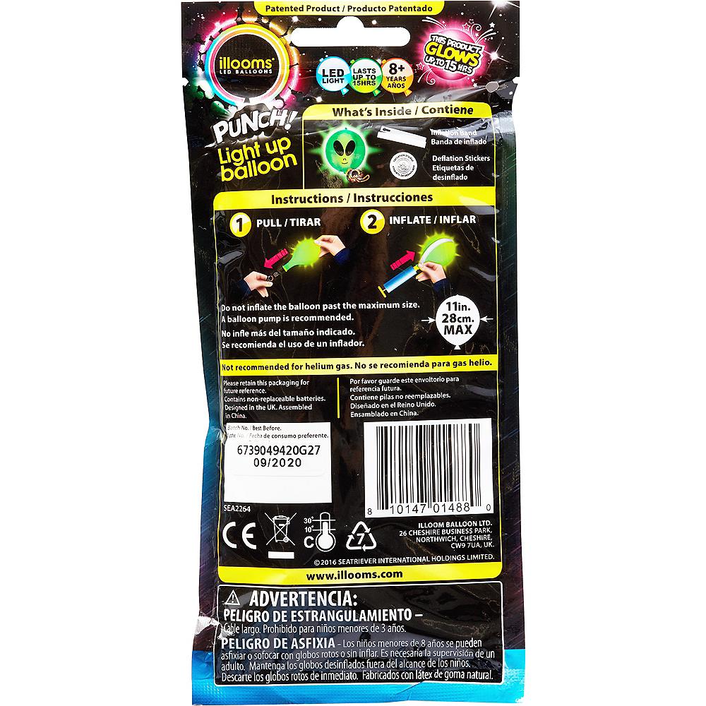 Illooms Light-Up Alien LED Punch Balloon, 11in Image #2