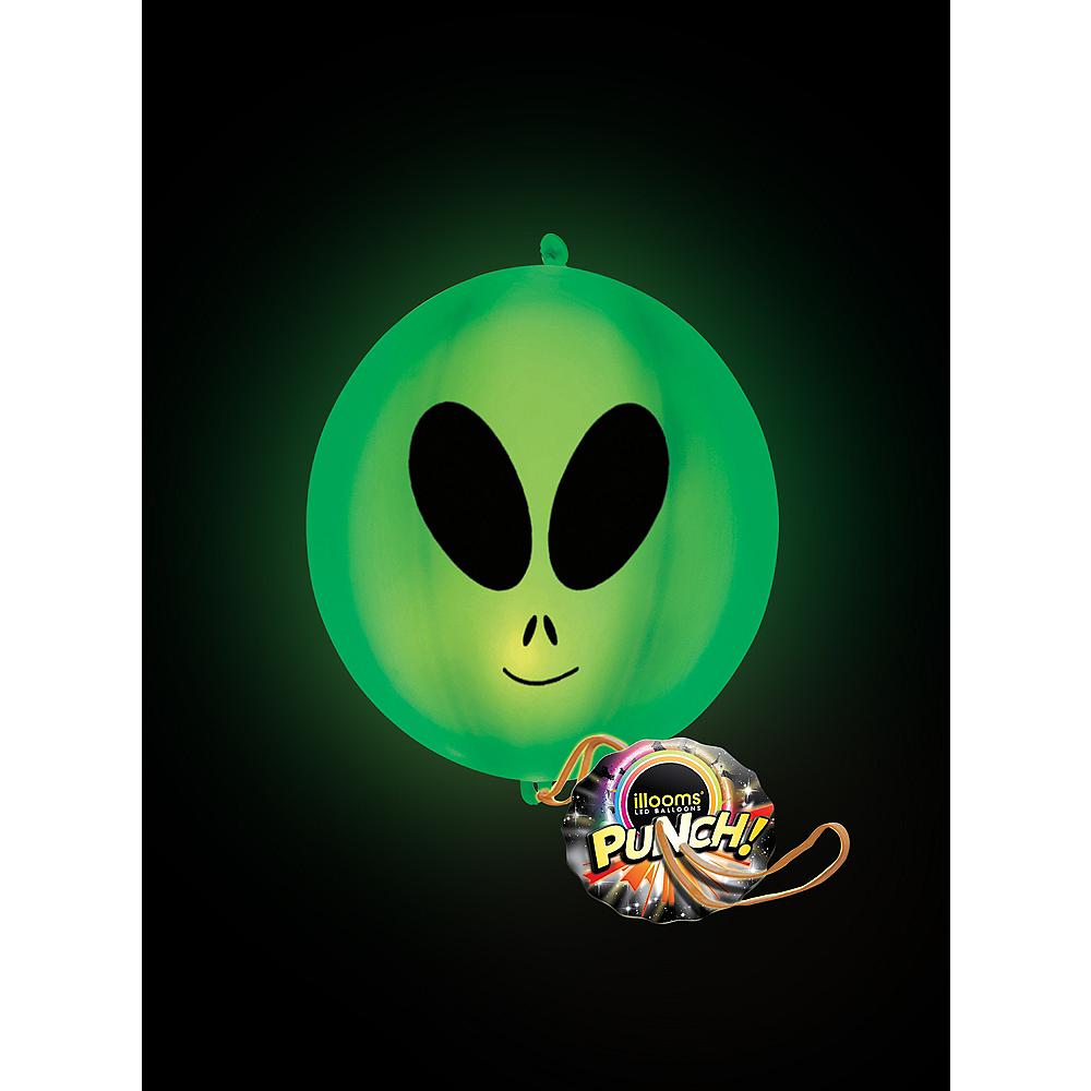 Illooms Light-Up Alien LED Punch Balloon, 11in Image #3