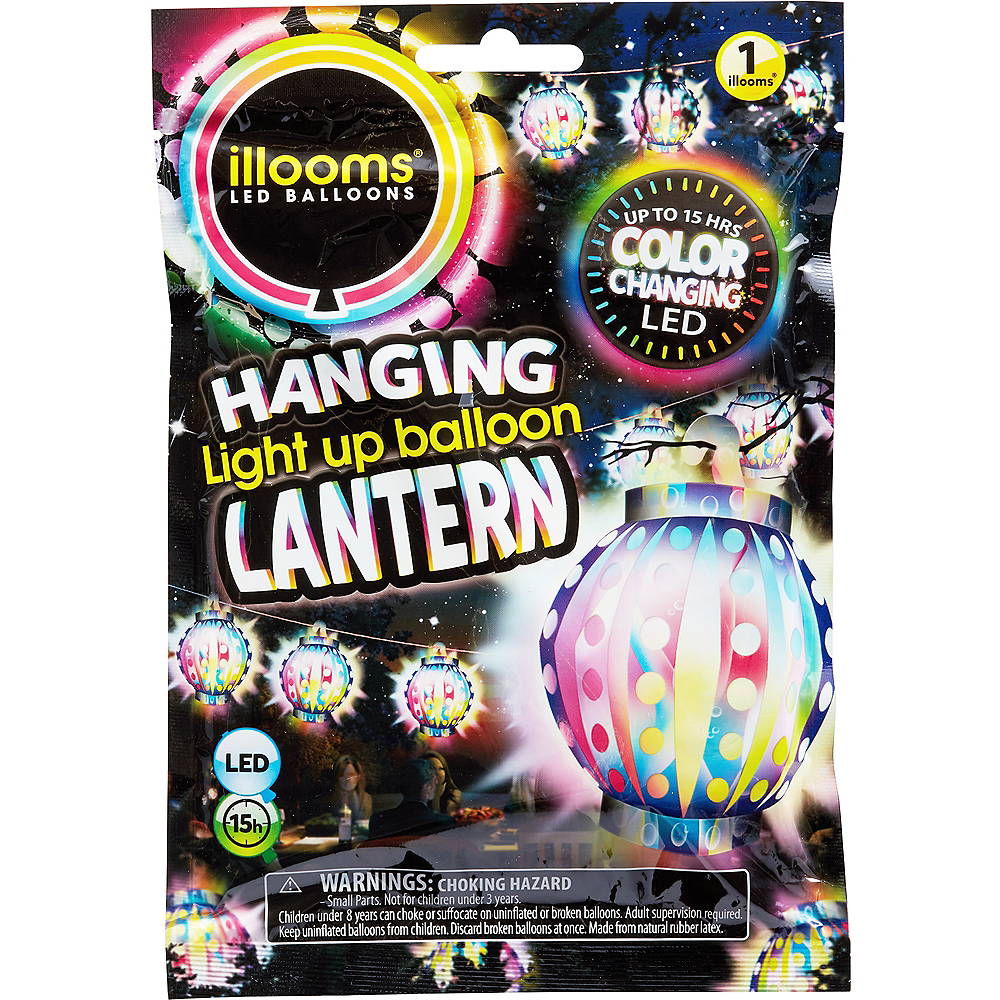 Illooms Light-Up Color-Changing LED Balloon Lantern, 9in Image #1