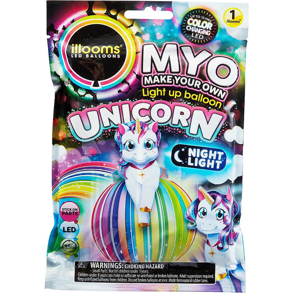 Illooms Light-Up Unicorn LED Balloon Lantern, 9in Image #1