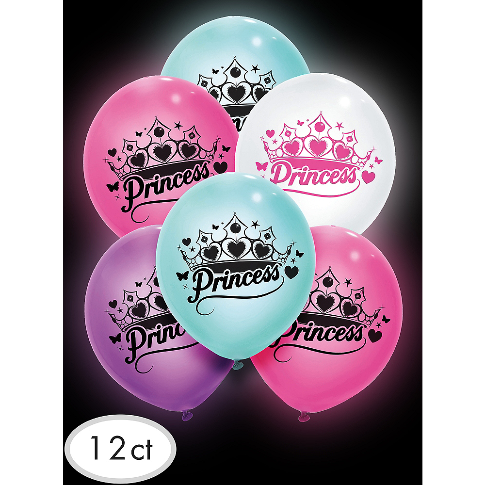 Illooms Light-Up Princess LED Balloons 12ct, 9in Image #3