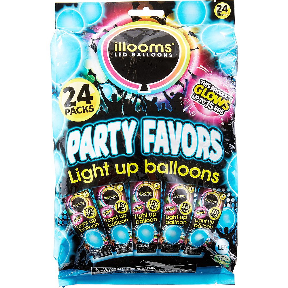 Illooms Light-Up Blue LED Balloons 24ct, 9in Image #1