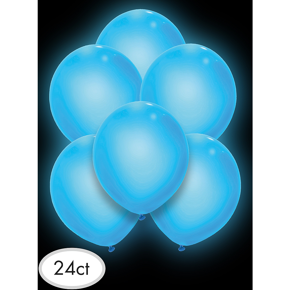 Illooms Light-Up Blue LED Balloons 24ct Image #3