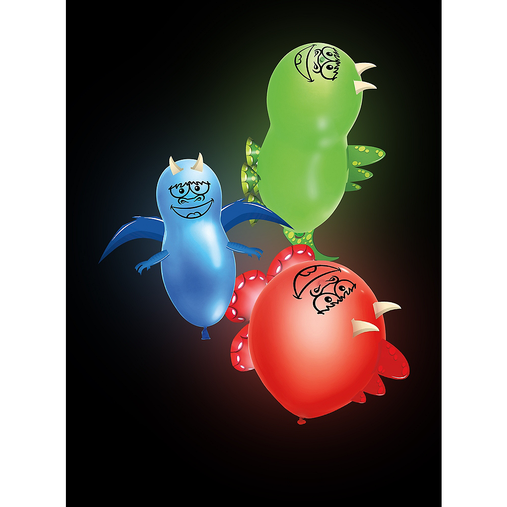 Illooms Light-Up Dinosaur LED Balloons 3ct, 9in Image #3