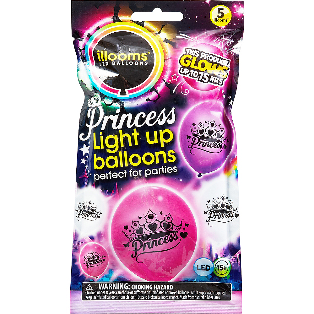 Illooms Light-Up Princess LED Balloons 5ct, 9in Image #1