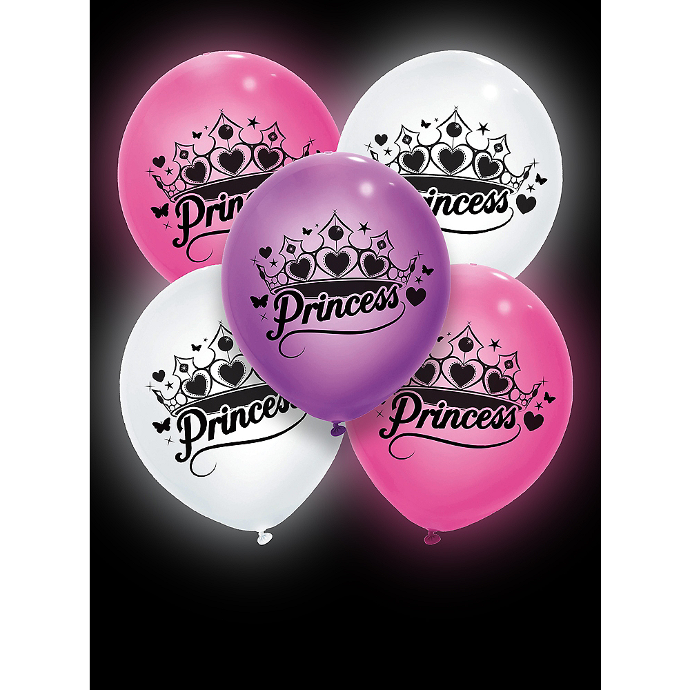 Illooms Light-Up Princess LED Balloons 5ct, 9in Image #3