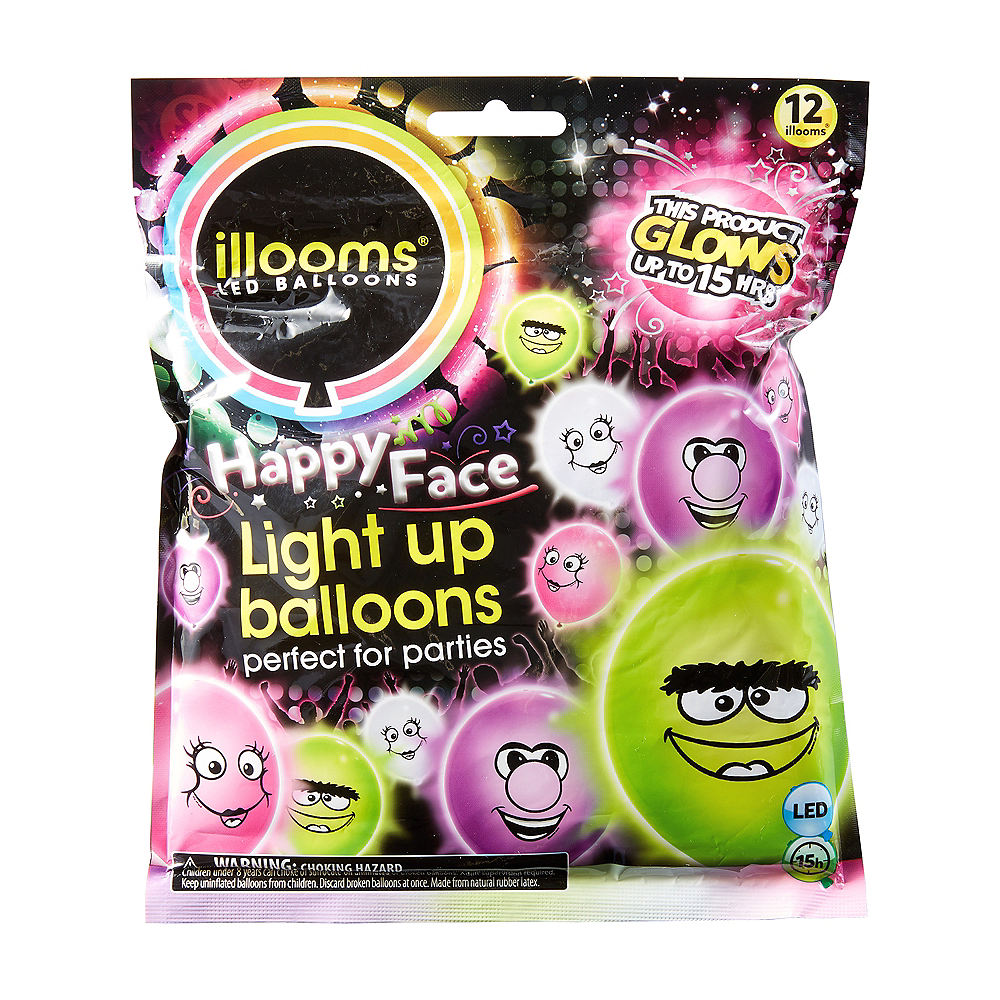 Illooms Light-Up Silly Monsters LED Balloons 12ct, 9in Image #1