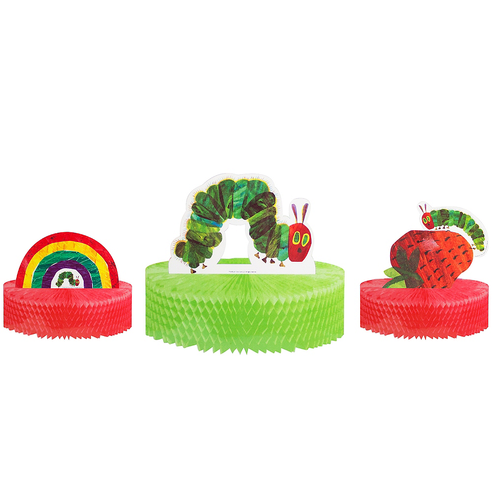 The Very Hungry Caterpillar Honeycomb Centerpieces 3ct Image #1