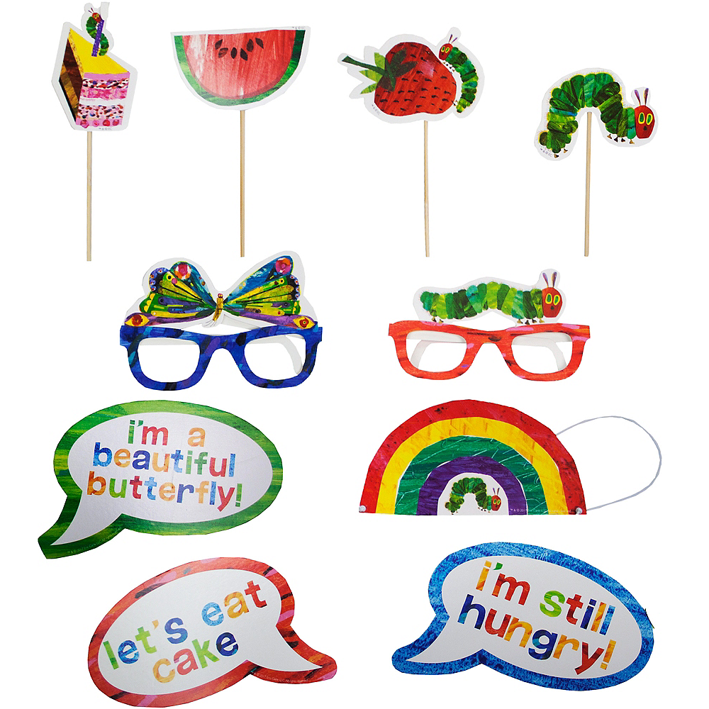 The Very Hungry Caterpillar Photo Booth Props 10ct | Party City