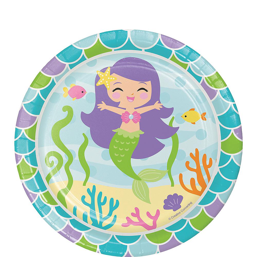 Friendly Mermaid Dessert Plates 8ct Image #1