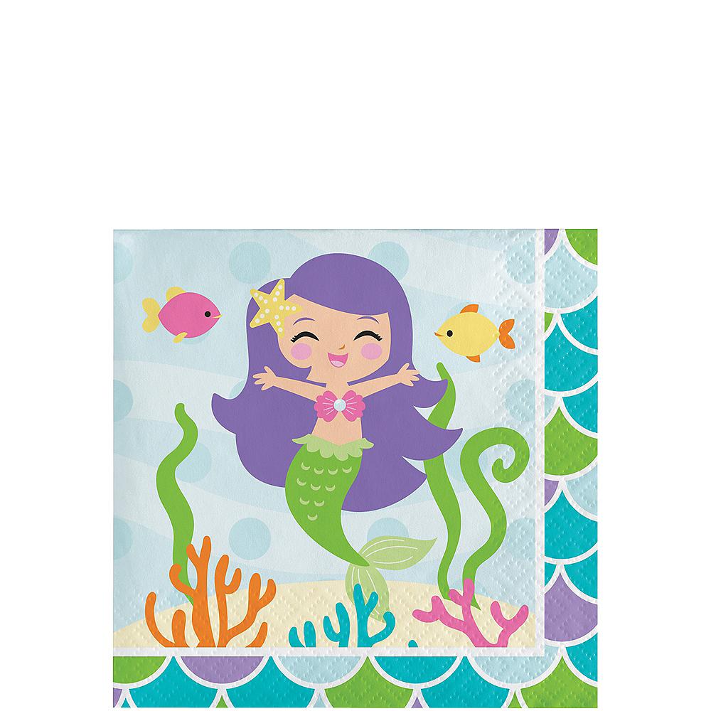 Friendly Mermaid Beverage Napkins 16ct Image #1