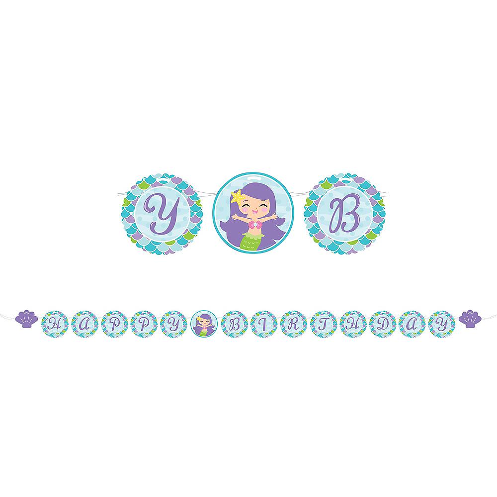 Friendly Mermaid Birthday Banner Image #1