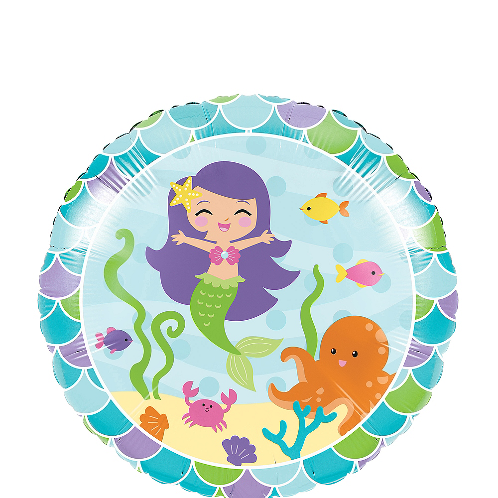 Friendly Mermaid Balloon Image #1
