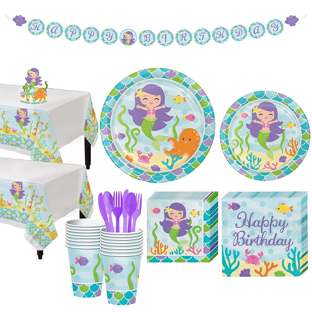 Mermaid Tableware Kit for 16 Guests Image #1