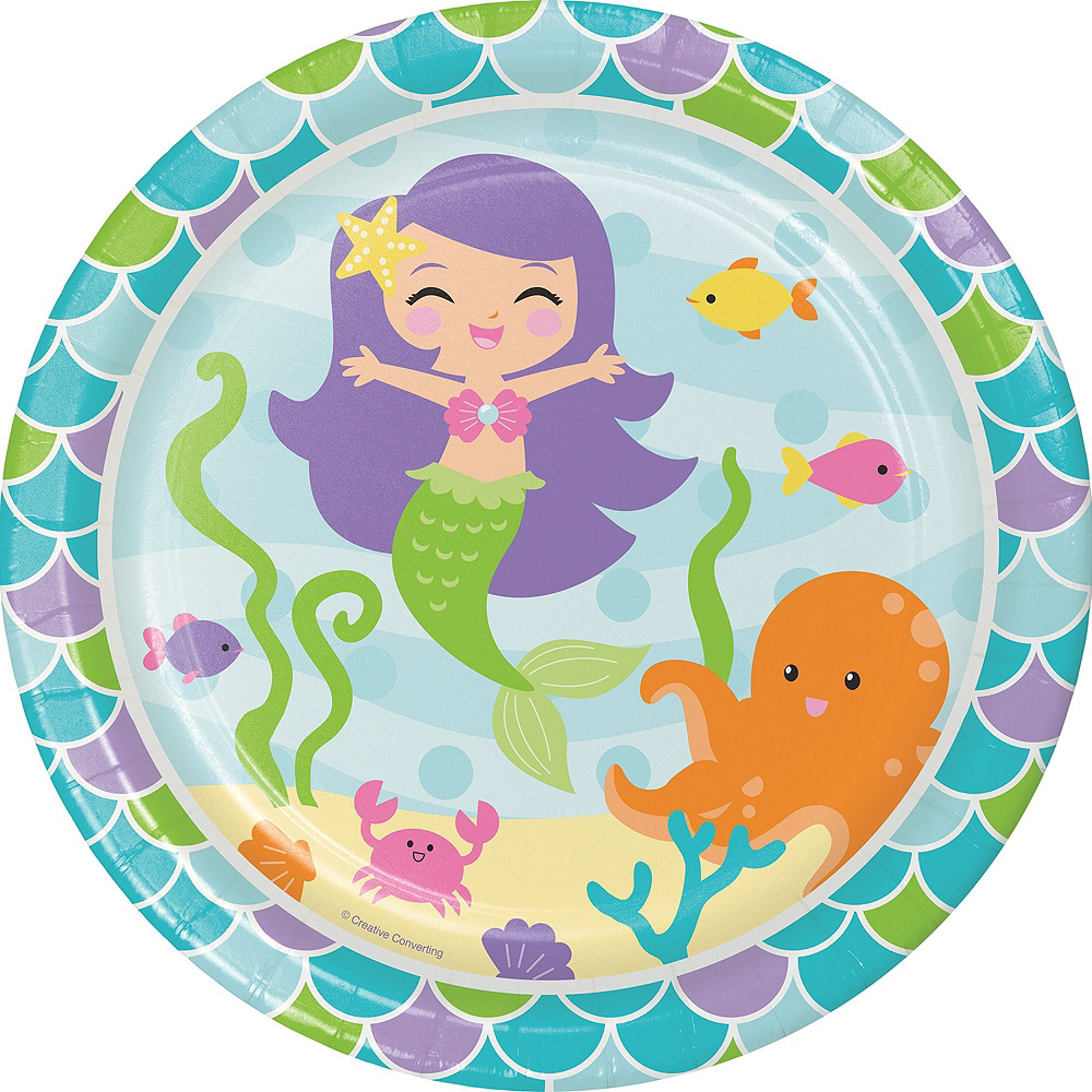 Mermaid Tableware Kit for 16 Guests Image #9