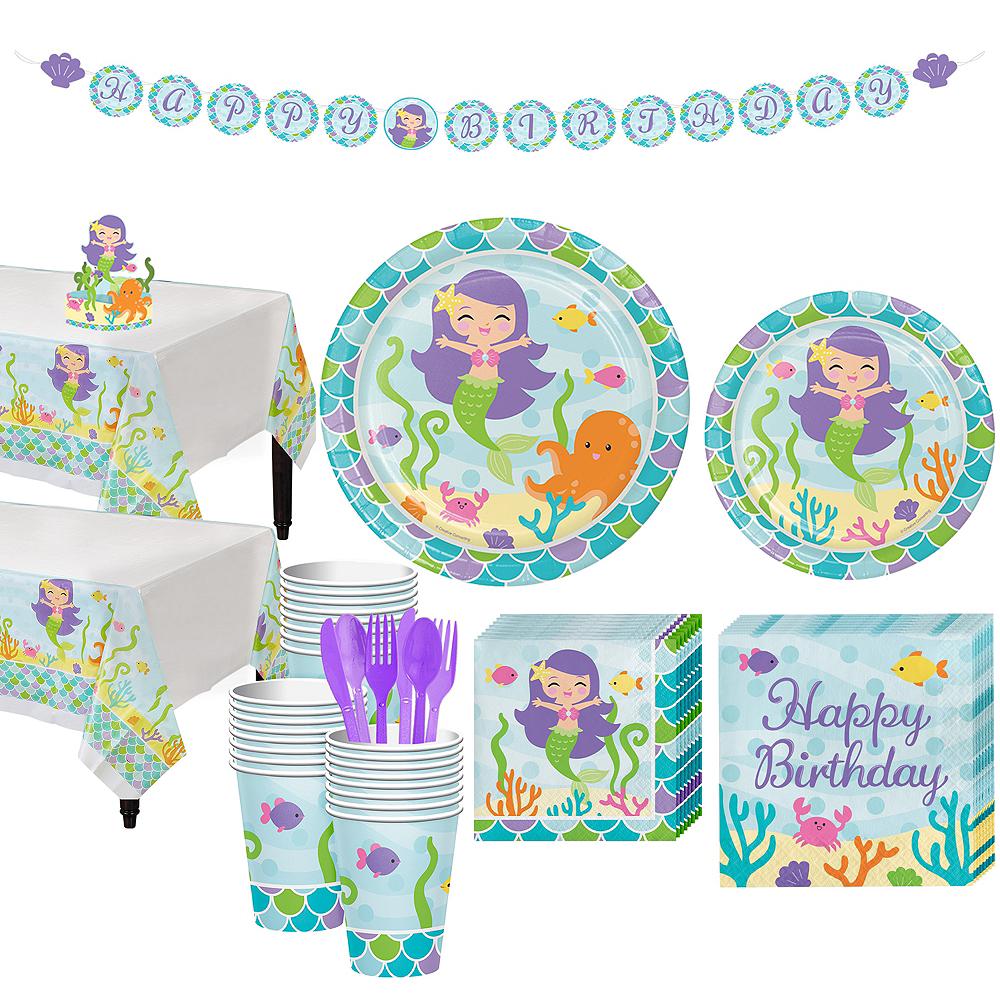 Mermaid Tableware Kit for 32 Guests Image #1