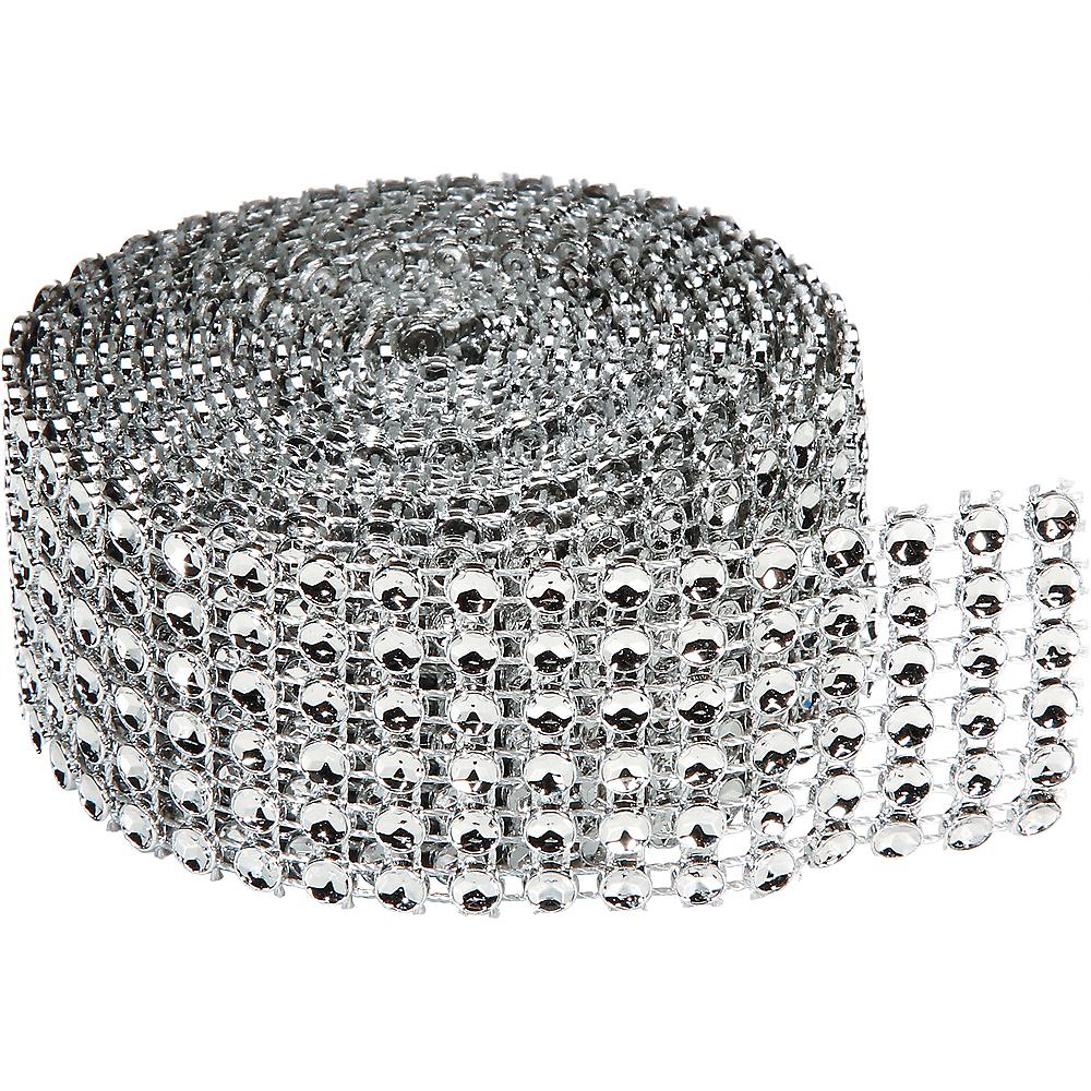 Silver Rhinestone Roll Image #1