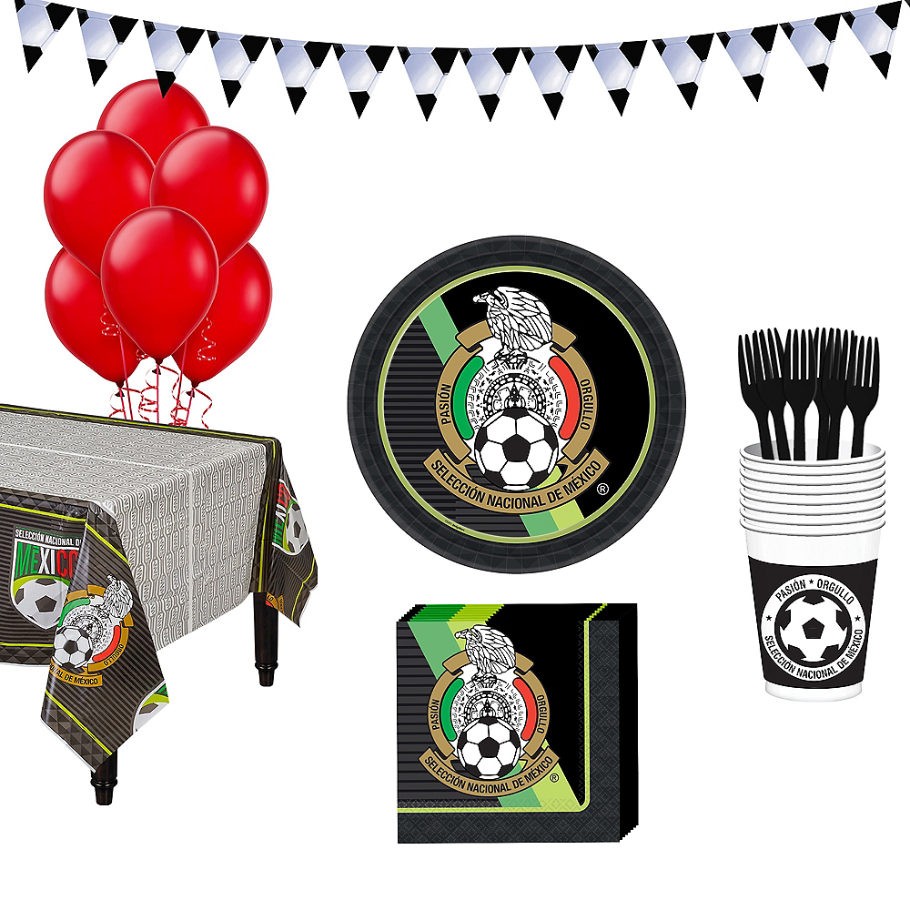 Mexico National Team Basic Party Kit for 16 Guests Image #1